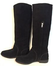 BRAND NEW $250 UGG AUSTRALIA GRACEN BLACK TALL SUEDE EQUESTRIAN WOMEN'S BOOTS