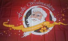 Frohe Weihnachten und ein glückliches neues Jahr Rot Sterne Glocken 150 x 90 cm