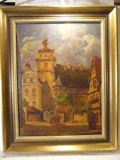 Hans Böhme Rothenburg ob der Tauber : Kutsche Weißer Turm um 1930 Schnitzerei !