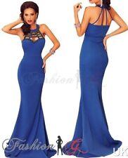 Full Length Crew Neck Patternless Formal Dresses for Women