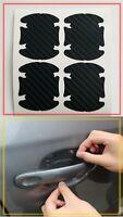 Pellicola CARBON LOOK 4D protezione maniglia sportello auto graffi tuning Black