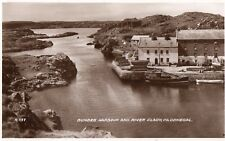 BUNBEG HARBOUR & RIVER CLADY CO. DONEGAL IRELAND VALENTINES RP POSTCARD R737