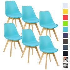6er Set Esszimmerstühle Design Esszimmerstuhl Küchenstuhl Holz Blau BH29bl-6