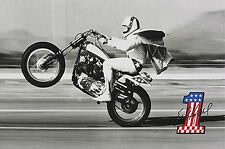 Retro Classic EVEL KNIEVEL Evil Kenevil 1970s Super Stunt Man Motorcycle Poster