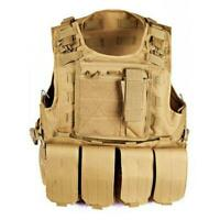 Vest Hunting mens Plate Carrier Holster Police Assault Gear Vests waistcoats new