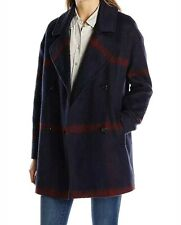 Tommy Hilfiger Women's Double Breasted Oversized Plaid Wool-blend Pea Coat M