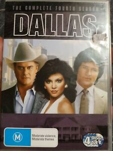 DALLAS The Complete Fourth Season HTF DVD 4 Disc Good C Region 4 Free Shipping