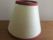 Four small ivory coloured traditional style clip-on parchment light shades.