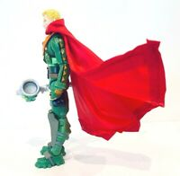"""SU-375-SUP: 1/18 scale Red Wired cape for 3.75"""" action figures (No Figure)"""