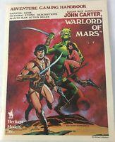 Adventure Gaming Handbook John Carter Warlord of Mars 1978 RPG Heritage Models