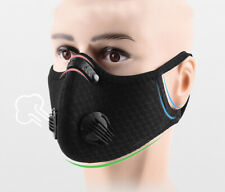 Black Outdoor Cycling Riding Air Purifying Half Face Mask Cover BI