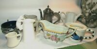 Vintage Lot of Pitchers Calyx , Studio Nova, Clipper, Noritake, Haviland Cobalt