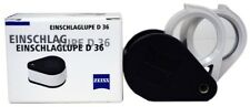Zeiss Top Quality Pocket Coin Stamp Loupe 3x + 6x = 9x D36 Jeweler Watchmaker