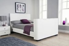 GFW Newark  King Size Electric TV Bed - White
