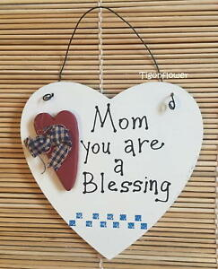 Country Decor Heart Wood Sign Mom You Are A Blessing 3D Heart Buy 2 get 1 free