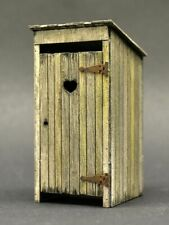 DioDump DD147 Vintage outhouse 1:35 scale laser cut wood diorama building