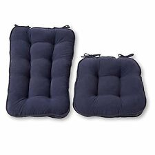 Greendale Home Fashions Jumbo Rocking Chair Cushion Set-Hyatt fabric-Denim NEW
