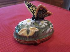 Vintage Limoges Butterfly Trinket Box