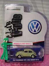 Greenlight Club V-Dub 1952 VOLKSWAGEN TYPE 1 SPLIT WINDOW BEETLE∞Green VW Bug
