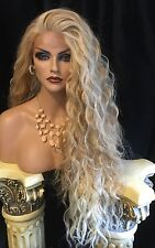 """DREAMY 32"""" LONG Blended Blonde Lace Front ANGELIC Spiral Curl Wig💝"""