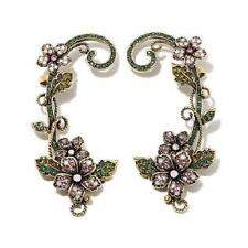 """Heidi Daus """"Fairytale Forest"""" Crystal-Accented Cuff Earrings Sold Out At $159.95"""