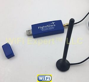 ADS-B 1090MHz PRO USB Stick PLUS (built in filter) + Car Antenna for FlightAware