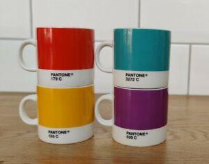 Set Of 4 Pantone Espresso Cups