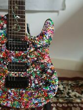 Unique Petrucci Sig Electric Guitar + Custom Paint Splat Finish + Dimarzio. OLP