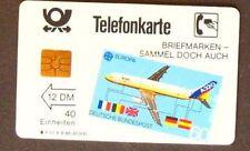 I201) P-Carte de téléphone Airbus p01a 1988 module 20 11 Chiffres Numéro Comme neuf/Cachet