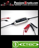 Carica batteria Ctek xs 0.8 Aprilia Sr max Srv Scarabeo Rs4 Rs125
