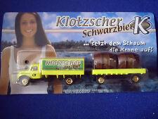 Modèle maquette de camion Deutz Magirus Sirius Klotzscher Bière noire publicité