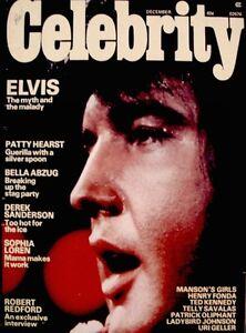 Elvis Presley Magazine 1975 Celebrity Debra Paget Ann Margaret Zsa Zsa Photo VTG