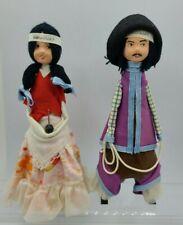 Uruguay Folk Art Handmade Ethnic Costume Traditional Doll Pair - 1979 signed