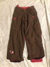 Burton Snowboard Pants Brown - Youth Girls Small 7/8 Dry Ride Sugar Spice