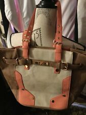 Melie Bianco~Multi-Color Handbag/ Tote~Grommet Handles~Vegan Leather~Purse