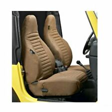 Jeep Wrangler TJ Set Seat Covers front Brown Denim Bestop 96-02