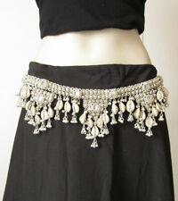 Womens Sash Belt Silver Boho Wedding Fashion Gypsy Hippie Festival Waist Jewelry