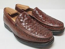 Florsheim Men's Leather Brown Loafers Size 8 D Made in Brazil