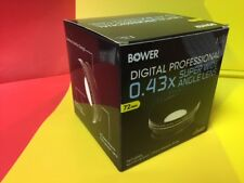 BOWER HD PRO HIGH DEFINITION PRO 0.43x WIDE ANGLE LENS With MACRO 72mm