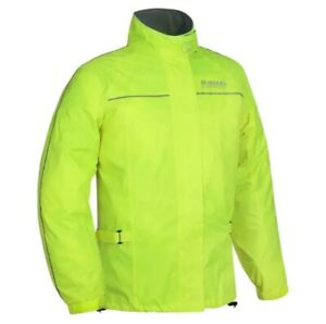 Oxford Rainseal All Weather Motorcycle Over Jacket - Fluorescent Yellow Large