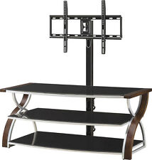 """Whalen Furniture - 3-in-1 Console for Most Flat-Panel TVs Up to 65"""" - Brown C..."""