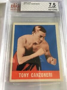 1948 Leaf Boxing Tony Canzoneri #77 BVG 7.5