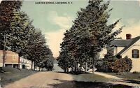 B18/ Lakewood New York NY Postcard 1913 Lakeview Avenue Home