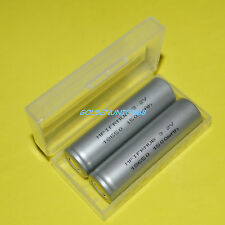 2X LiFePO4 IFR18650 3.2V 1500mAh 18650 LiFe Li-ion battery +1X Plastic case box