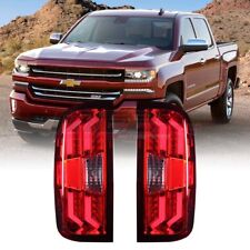 Winjet OE Fit For 2014-2017 Chevy Silverado 1500 LED Brake Tail Lights Red