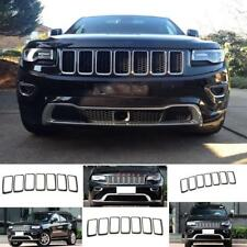 7pcs Front Grille Trim Ring Cover Insert Mesh for Jeep Grand Cherokee 2014-2016