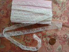 ".5""  tiny French Antique Lace Valenncia Val Trim 3 yards +32"" edgings"
