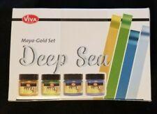 (4) Viva Maya-Gold Paint Deep Sea (OldGold, Apple green, Turquoise, Iceblue)