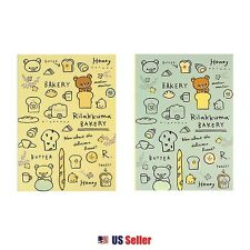 San-X Rilakkuma A4 College Ruled Notebook Note Pad Set of 2 : Bakery