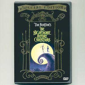 Tim Burton's Nightmare Before Christmas 1993 PG stop-motion movie, DVD, Disney
